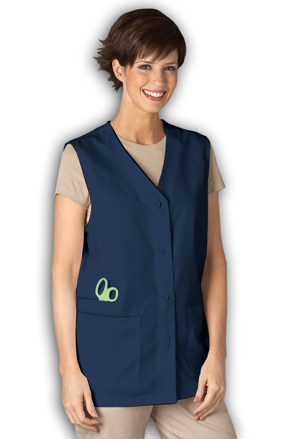 4349 Three Pocket Vest - Women Peaches Three Pocket Vest