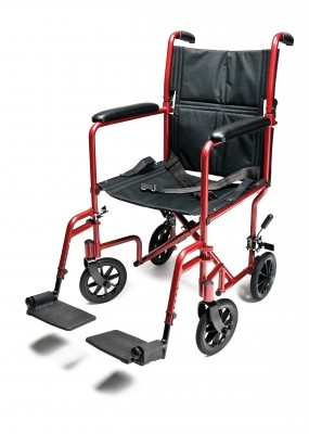 InventoryItem10937 400 - W/C TRANS CHAIR RED ALUM 17 E&J
