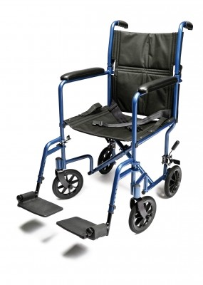 InventoryItem10941 400 - W/C TRANS CHAIR BLUE ALUM 17 E&J
