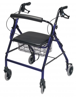 InventoryItem11831 400 - ROLLATOR ALUM WIDE ROYAL BLUE WALKABOUT WIDE