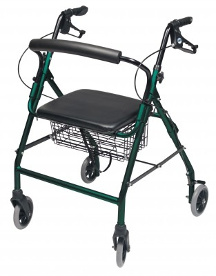 InventoryItem11833 400 - ROLLATOR ALUM WIDE TEAL GREEN WALKABOUT WIDE