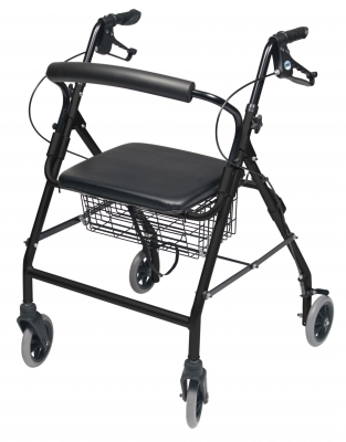 InventoryItem11834 400 - ROLLATOR ALUM WIDE BLACK WALKABOUT WIDE