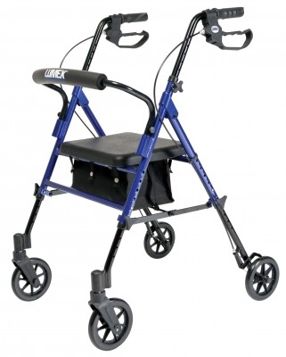 InventoryItem12107 400 - SET N GO HGT ADJ ROLLATOR BLUE LUMEX
