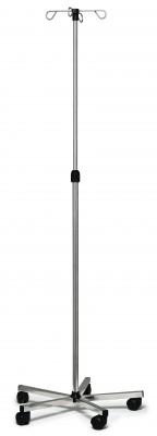 InventoryItem13336 400 - IV POLE STAINLESS STEEL 4HOOK LUMEX