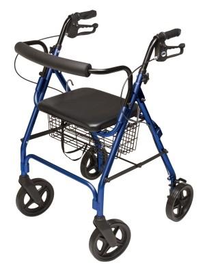 "InventoryItem8488 400 - ROLLATOR ALUM CURV BR BLUE 8"" WHL, PADDED SEAT, LUMEX"