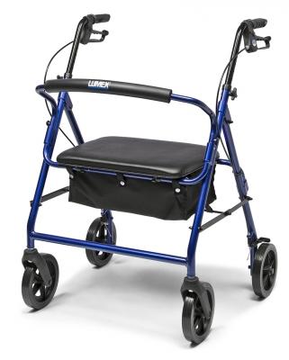 InventoryItem8580 400 - ROLLATOR ALUM IMPERIAL BLUE WALKABOUT CONTOUR, LUMEX