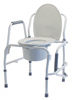 PRD 6433A 1 72 72x100 - BATH SEAT W/BACK CHOCOLATE LUMEX 1 EA UNASSEMBLED