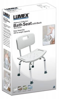 ProductImageItem3335 400 2 - BATH SEAT W/OUT BACK SEA GRAY LUMEX 1 EA UNASSEMBLED