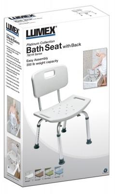 ProductImageItem3335 400 - BATH SEAT W/ BACK RETAIL LUMEX, UNASSEMBLED